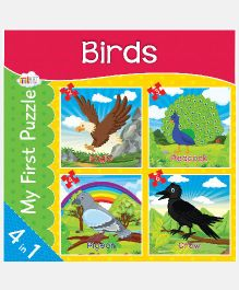 Art Factory Birds Jigsaw Puzzles - 4 Pieces