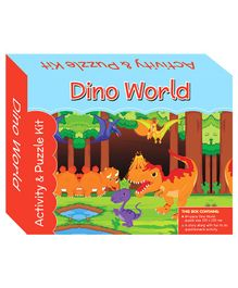 Art Factory Dino World Puzzle And Activity Kit - 64 Pieces