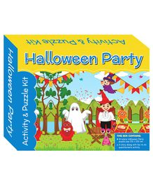 Art Factory Halloween Party Puzzle And Activity Kit - 64 Pieces