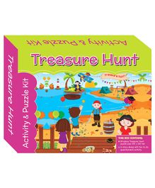 Art Factory Treasure Hunt Puzzle And Activity Kit - 64 Pieces