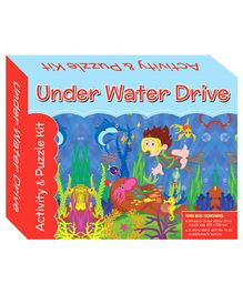 Art Factory Underwater Dive Puzzle And Activity Kit - 64 Pieces