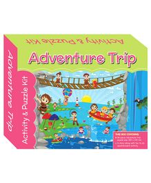 Art Factory Adventure Trip Puzzle And Activity Kit - 96 Pieces