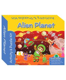 Art Factory Alien Planet Puzzle And Activity Kit - 96 Pieces
