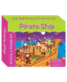 Art Factory Pirate Ship Puzzle And Activity Kit - 96 Pieces