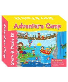 Art Factory Adventure Camp Story And Puzzle Kit - 40 Pieces