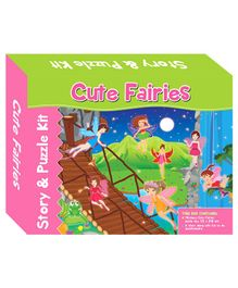 Art Factory Cute Fairies Story And Puzzle Kit - 40 Pieces