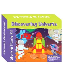 Art Factory Discovering Universe Story And Puzzle Kit - 40 Pieces