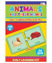 Art Factory Animal And Their Homes Puzzle - 20 Sets
