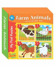 Art Factory My First Puzzle Farm Animals - Multicolor