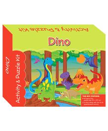 Art Factory Puzzle And Activity Kit Dino - 40 Pieces