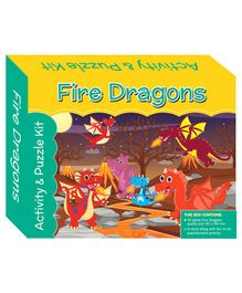 Art Factory Puzzle And Activity Kit Fire Dragons - 40 Pieces