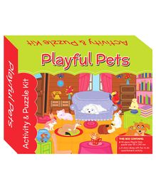 Art Factory Puzzle And Activity Kit Playful Pets - 40 Pieces