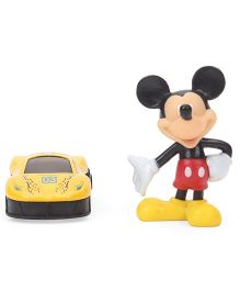 Mickey Mouse Figurine And Metal Car Set - Multi Color