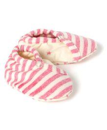 Pranava Organic Cotton Over Lap Booties  -  Pink