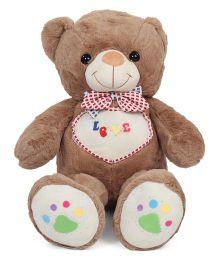 Dimpy Stuff Teddy Bear Soft Toy Brown & Off White - 80 cm