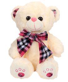 Dimpy Stuff Teddy Bear Soft Toy Checks Bow - 30 cm