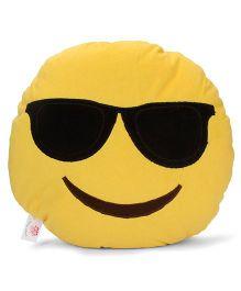 Dimpy Stuff Assorted Emoji Sunglass Print Cushion - Yellow