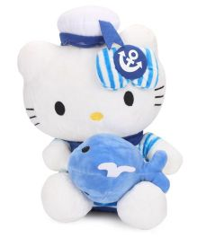Dimpy Stuff Hello Kitty Sailor Soft Toy White And Blue - Height 30 cm