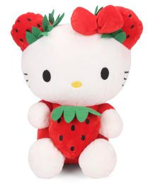 Dimpy Stuff Hello Kitty Strawberry Soft Toy White And Red - Height 30 cm