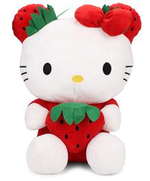 Dimpy Stuff Hello Kitty Strawberry Soft Toy White And Red - Height 46 cm