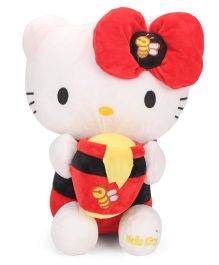 Dimpy Stuff Hello Kitty Honey Bee Soft Toy White And Red - Height 36 cm