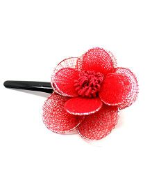 Eternz Haedos Collection Flower Hairclip - Red