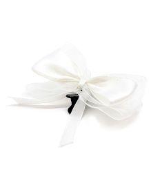 Eternz Haedos Collection Bow Hairclip - White