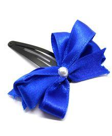 Eternz Haedos Collection Bow Snap Clip - Royal Blue