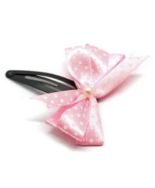 Eternz Haedos Collection Bow Snap Clip - Pink