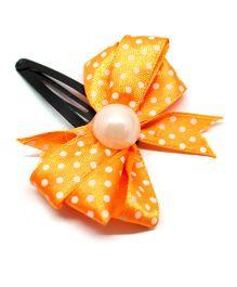 Eternz Haedos Collection Bow Snap Clip - Orange