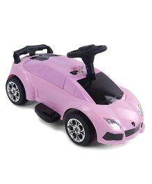 Battery Operated Ride-On Car - Pink Black