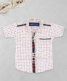 Knotty Kids Printed Shirt - White