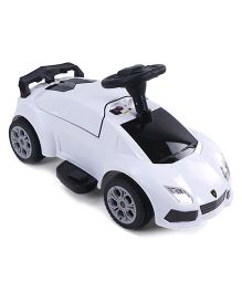 Battery Operated Ride-On Car - White Black