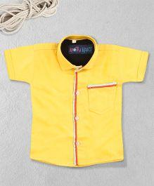 Knotty Kids Stylish Plain Shirt - Yellow