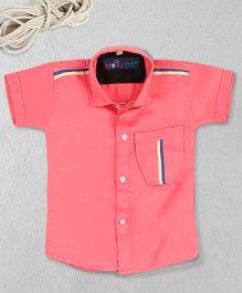 Knotty Kids Plain Half Sleeve Shirt - Pink