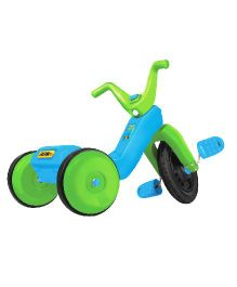 OK Play Falcon Manual Pedal Tricycle - Blue & Green