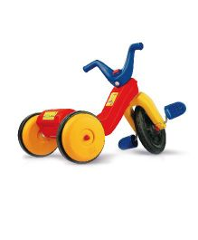 OK Play Falcon Manual Pedal Tricycle - Red Yellow Blue