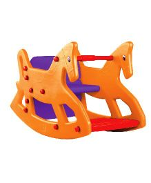 OK Play Roxy 2 In 1 Rocker Cum Table Chair - Orange