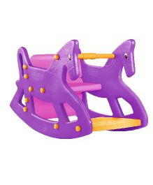 OK Play Roxy 2 In 1 Rocker Cum Table Chair - Purple
