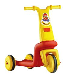 OK Play Speedo 3 Wheel Bike - Yellow & Red