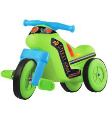 OK Play Street Hawk Paddle Bike Ride On - Green