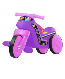 OK Play Street Hawk Paddle Bike Ride On - Purple