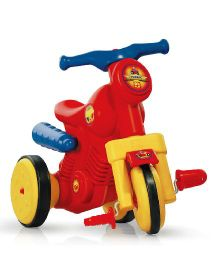 OK Play Turbo Paddle Bike Ride On - Red