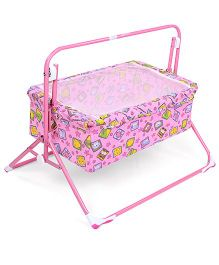 Mothertouch Wonder Cradle Animal & Star Print - Pink