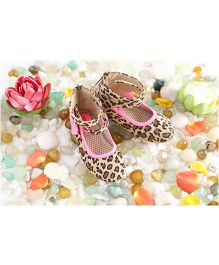 LCL Ankle Shoes Bow Applique - Beige Pink