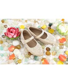 LCL Party Wear Belly Shoes - Golden