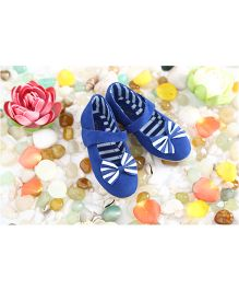 LCL Party Wear Belly Shoes Bow Applique - Blue