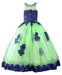 The Wild Cat Mint Swan Gown - Green & Blue