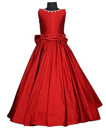 The Wild Cat Ruby Victorian Gown - Red