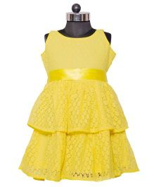 Nappy Monster Layered Lace Dress - Yellow
